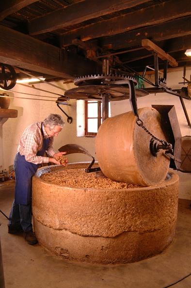 Meules du moulin à huile de Pesselières à Jalogne - Cher