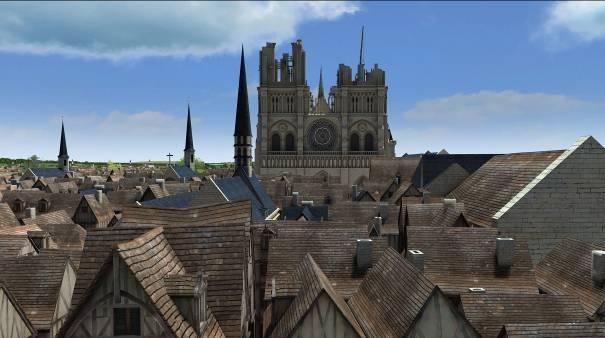 Notre-Dame en 3D © Dassault Systèmes