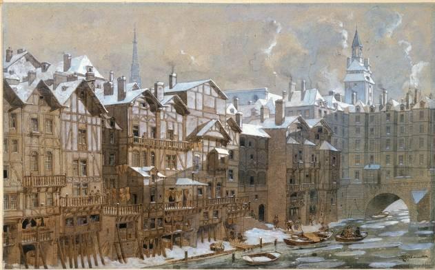 Theodor-Josef-Hubert Hoffbauer (1839-1922), La Cité et le Pont-au-Change en 1650 © Musée Carnavalet  Roger-Viollet