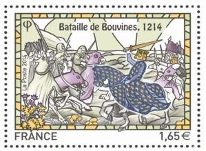 Timbre-commemoratif-2014-Bataille-de-Bouvines--1214-