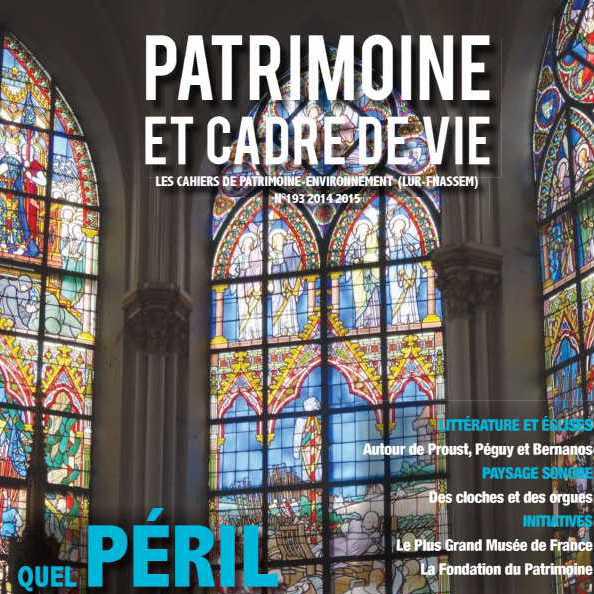 Le numéro 193 de la Revue «Patrimoine et cadre de vie» consacré aux églises est disponible !