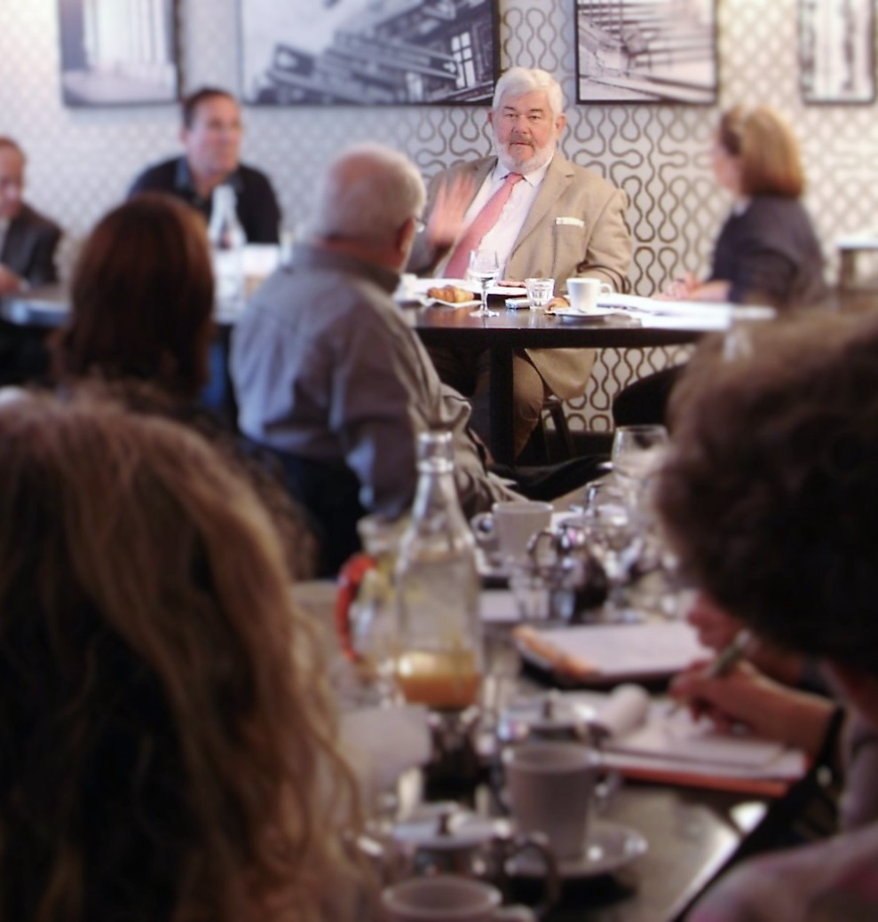 M. de La Bretesche lors du déjeuner de presse de l'AJP.