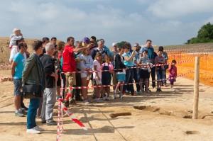 Jna 2015 Bourgbarré - Visite du chantier (c) Inrap